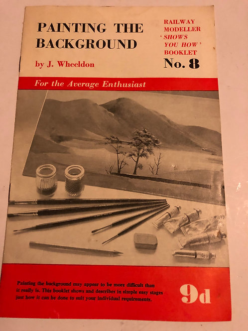 RAILWAY MODELLER SHOWS YOU HOW - No 8 PAINTING THE BACKGROUND
