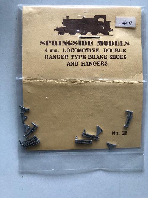 SPRINGSIDE MODELS - No DA25 LOCO DOUBLE HANGER TYPE BRAKE SHOES