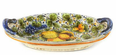 Oval tray with handles cm 46 x 30