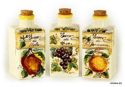 Bottle squarer base cm 5 x 5 H cm 14