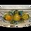 Thumbnail: Vasca ovale fioriera cm 38 x 24 limoni applicati