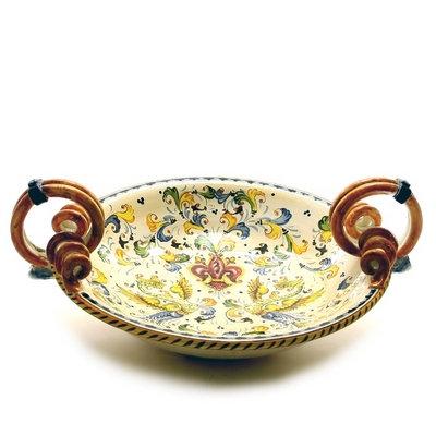 Round centerpiece with serpentine handles cm 40