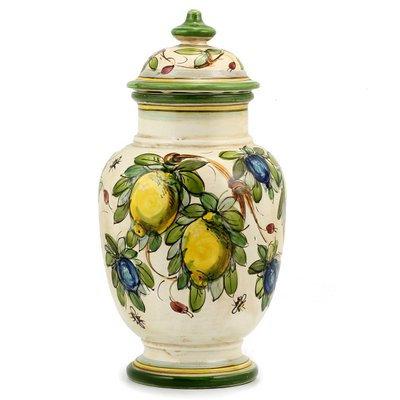 Round vase with lid cm 15 H cm 33