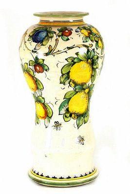 Round vase with lid cm 18 H cm 43