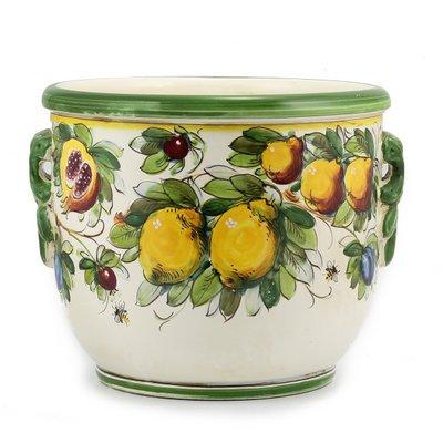 Round cachepot with handles cm 30