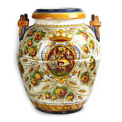 Large urn with double handles H cm 62