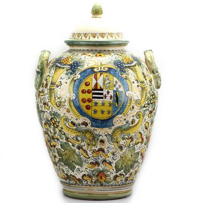 Large urn with lid H cm 75