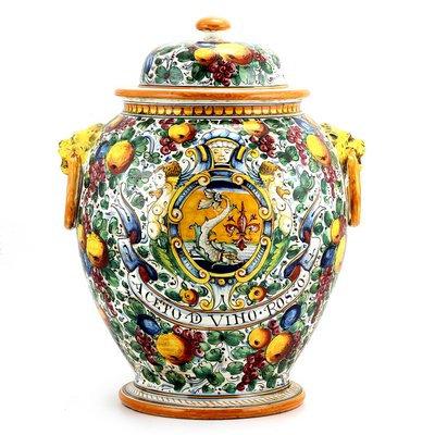 Urn with lid cm 40 H cm 55