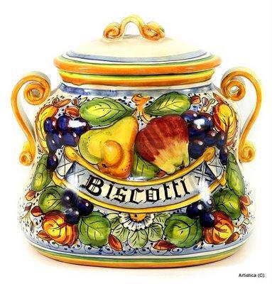 Oval biscotti jar cm 26 H cm 26