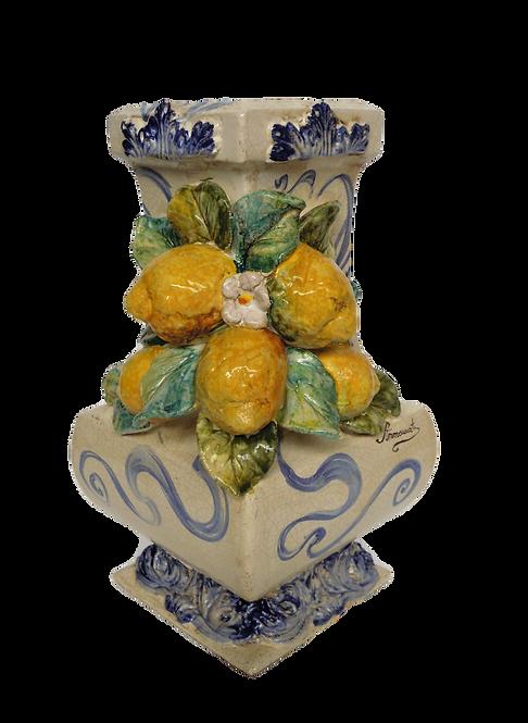Baselampada con limoni applicati h cm 40