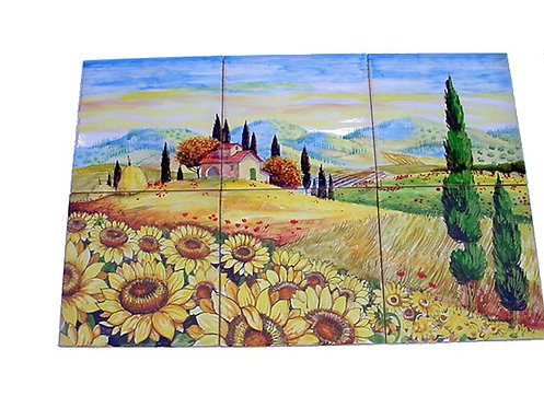 Panel  CM 60 x 40- composed by 6 tiles CM 20 x 20
