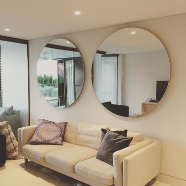 Large round mirror hanging Melbourne