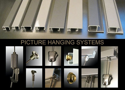 Art Hanging Systems, picture hanging, picture systems, picture hanging tracks, picture hanging wire, picture hanging services, picture hanging wire, hooks, cables, track walls