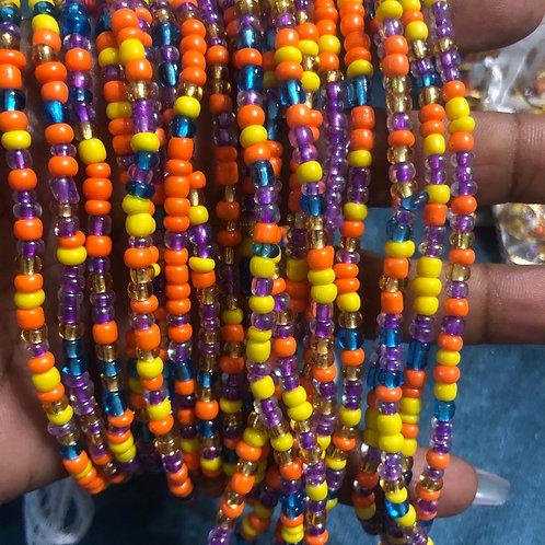 All glass waist beads  on 100% cotton thread