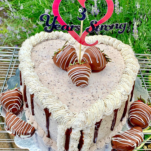 Cookie and Cream Heart Cake