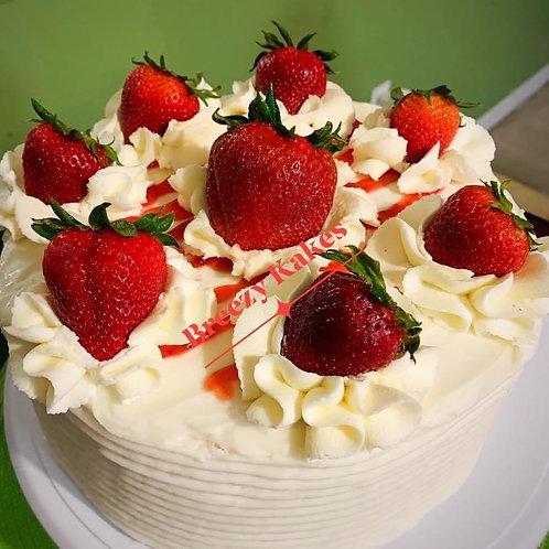 Real Strawberry Cake