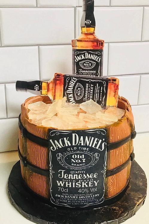 Custom Made Theme beverage 3 layer Cake