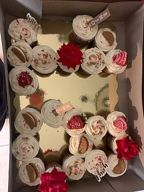 Decorated Cups Cakes 1 dozen
