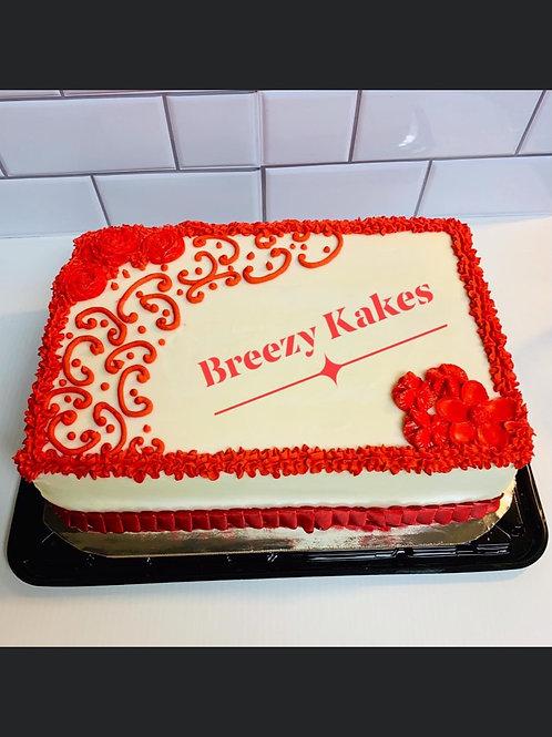 Quarter size sheet cake