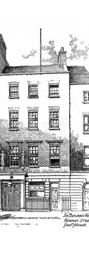 The Home Of Benjamin West on Newton St., London, England