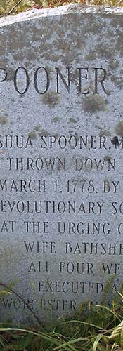 Marker at the site of the Spooner well.