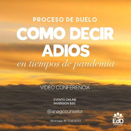 """Conferencia """"Decir Adiós en Tiempos de Pandemia"""