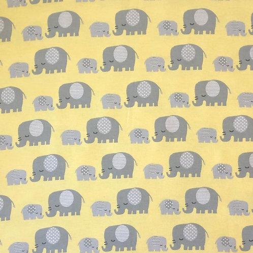 Grey Elephants on yellow