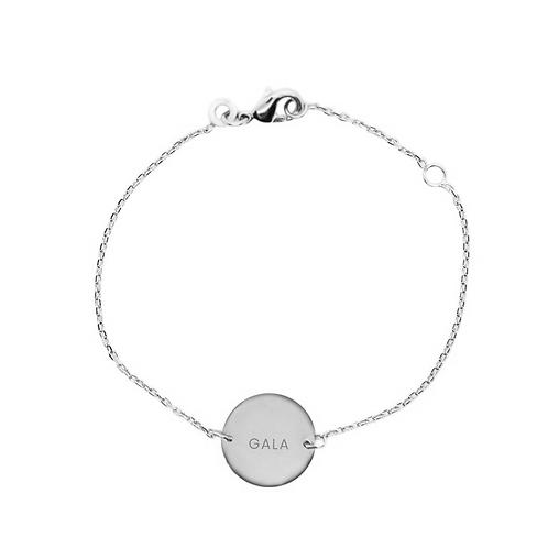 Pulsera personalizada esmeralda cadena simple
