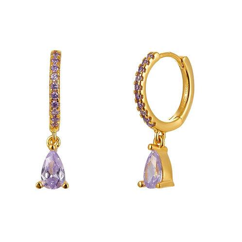 Pendientes Bora Purple Oro