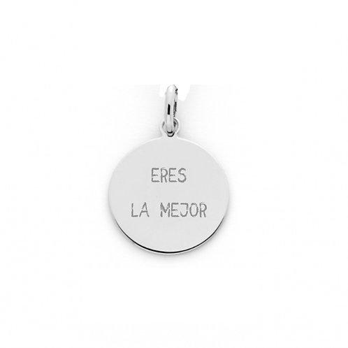 Medalla personalizada Mile Plata