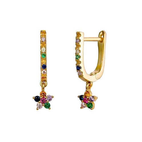 Pendientes Sari Rainbow Oro