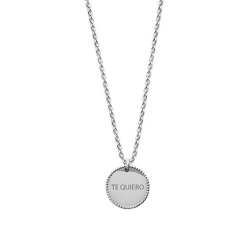 Colgante personalizado granulado plata