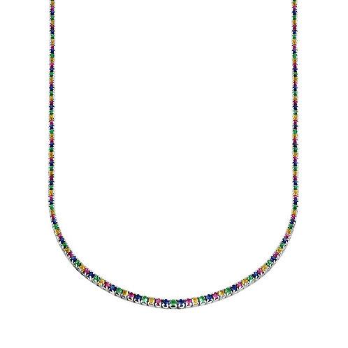 Colgante Misha Rainbow Plata