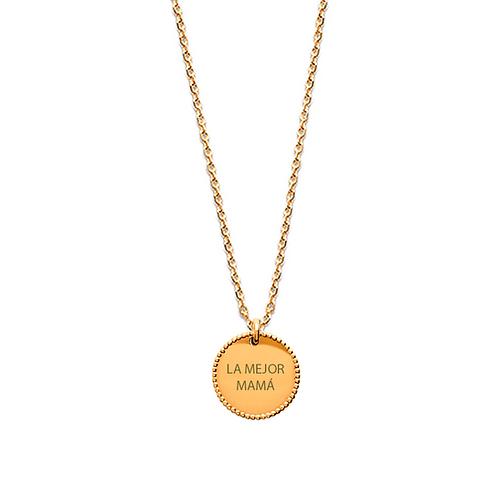 Colgante personalizado granulado oro