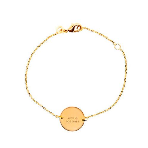 Pulsera personalizada esmeralda cadena simple oro