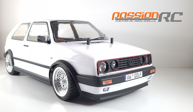 1/10 RC VW Golf Mk2 Body Shell
