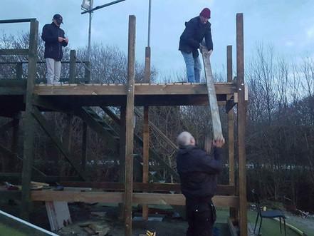 Work begins on rostrum extension