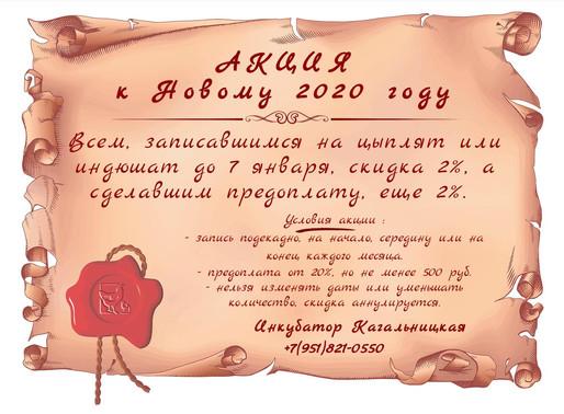 АКЦИЯ к Новому 2020 году.