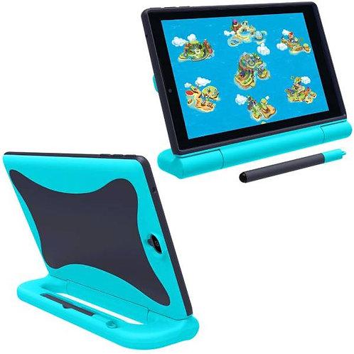 Verizon GizmoTab Rome Tech OEM Kids Case w/Stylus - Light Blue / Dark Blue