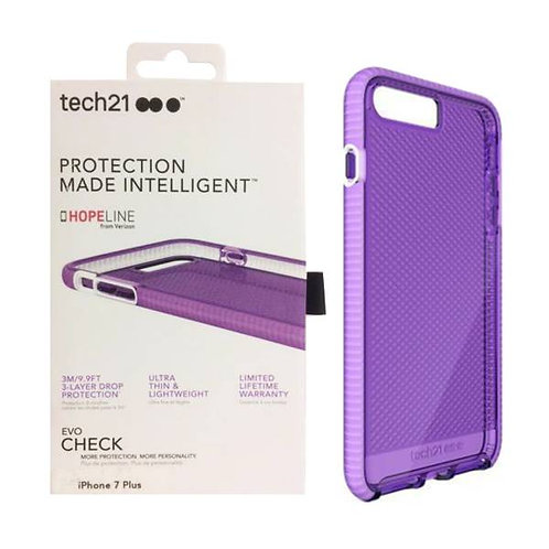 Apple iPhone 7 Plus / 8 Plus Tech21 Evo Check Case - Purple