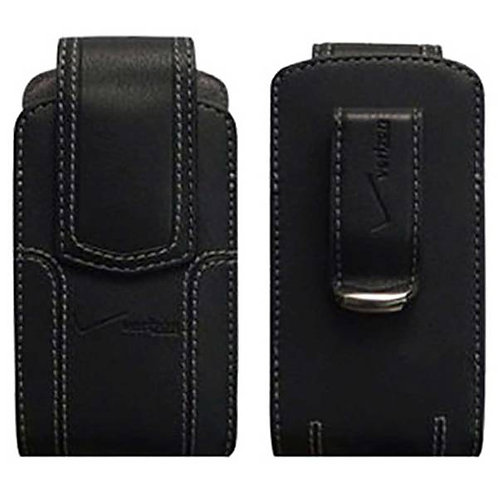 Verizon OEM Universal Leather Standing Pouch for Medium Sized Devices - Black