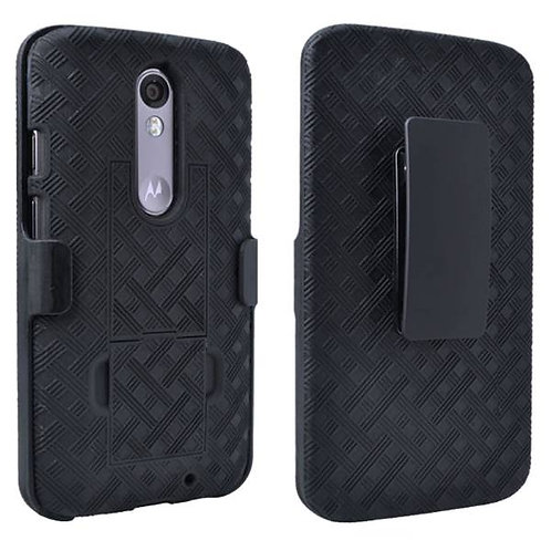 Motorola Droid Turbo 2 Rome Tech OEM Shell Holster Combo Case - Black