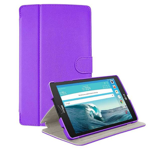LG G Pad X8.3 Rome Tech OEM Folio Case w/Clip - Purple