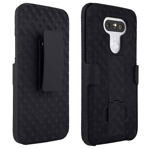 LG G5 Rome Tech OEM Shell Holster Combo Case - Black