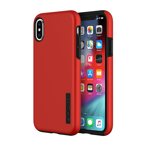 Incipio DualPro Case for Apple iPhone Xs / X - Iridescent Red and Black