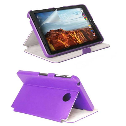 Verizon Ellipsis 8 Rome Tech OEM Folio Case w/Stand - Purple