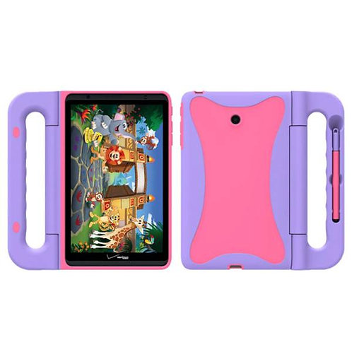 "Verizon Ellipsis Kids Tablet 8"" Rome Tech OEM Kids Case - Pink / Purple"