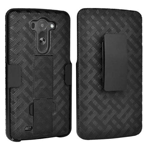 LG G Vista Rome Tech OEM Shell Holster Combo Case - Black