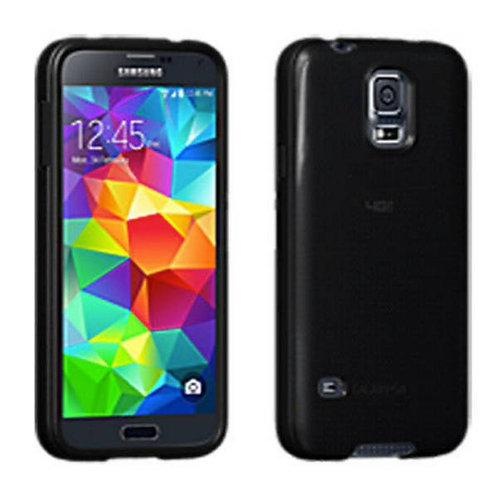 Samsung Galaxy S5 Rome Tech OEM High Gloss Silicone Case Cover - Black
