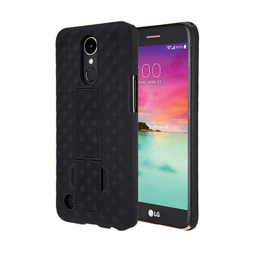 LG K20 V / K20 Plus Rome Tech OEM Shell Holster Combo Case - Black